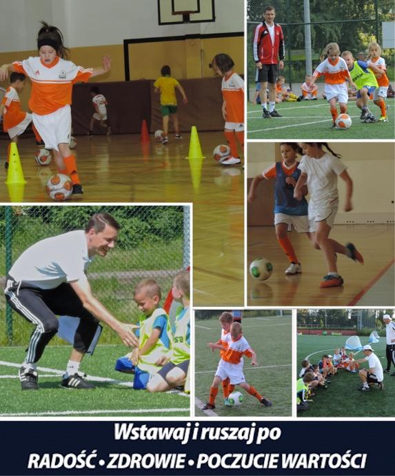 Szkoła piłkarska dla Ciebie. Wstawaj i ruszaj po radość, zdrowie, poczucie radości.